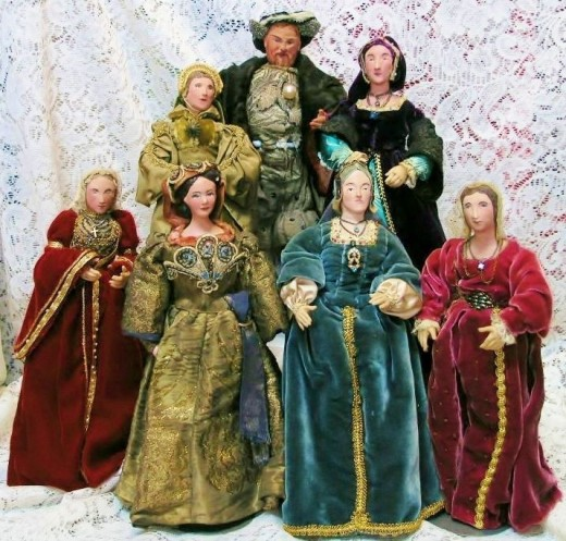 King Henry VIII & His Six Wives by English Artist Alice Smith
