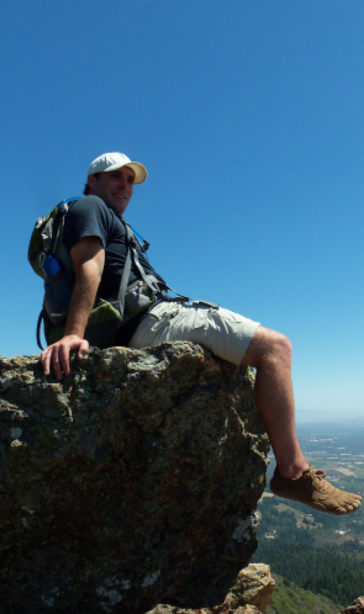 Sitting on Gunsight Rock