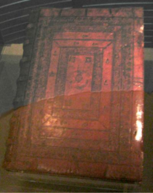 The cover of the Gutenberg Bible.