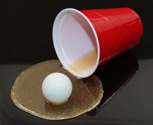Knocking off Your Own Cup will Result in Eliminating it from the game