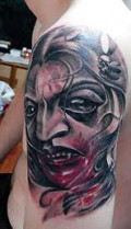 Vampire Tattoo Designs And Ideas-Vampire Tattoo Meanings And Pictures