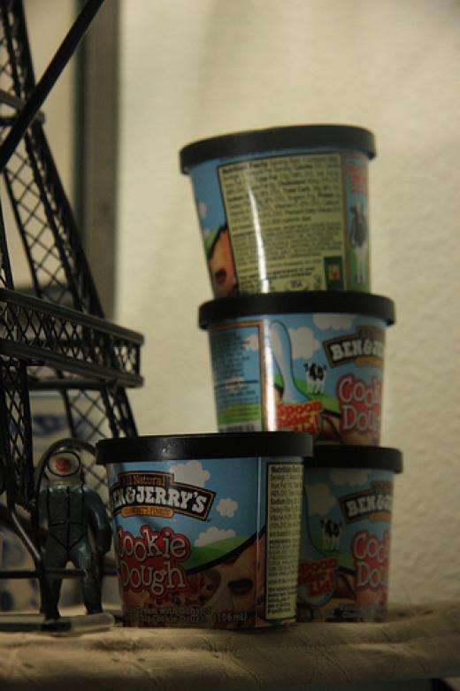 Binge Eating Ice Cream