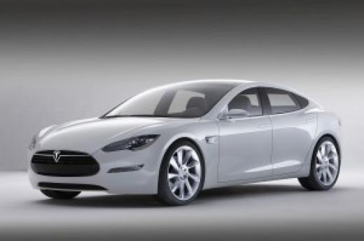 Tesla Model S car.