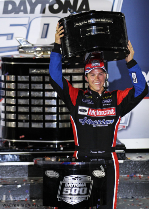 Despite his Daytona 500 victory, Bayne lost out on the full time Nationwide ride to Stenhouse