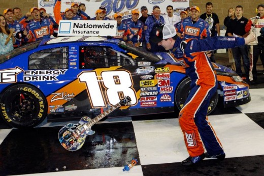 Busch took a great deal of heat for smashing the victory lane guitar after a win in the Nationwide series. Critics saw the move as yet another sign of Kyle's immaturity