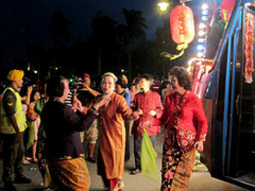 Chap Goh Mei street party in Penang, Malaysia