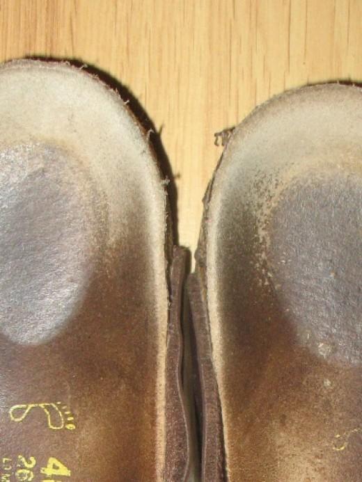 Well-worn Birkenstocks