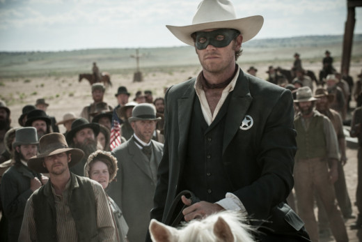 Armie Hammer as The Lone Ranger.
