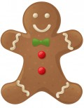 Free food clip art: Christmas gingerbread man