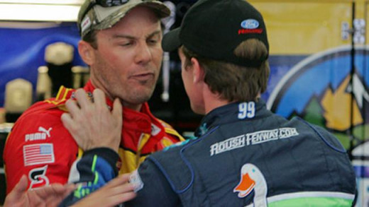 Harvick hasn't always gotten along with other drivers in the garage
