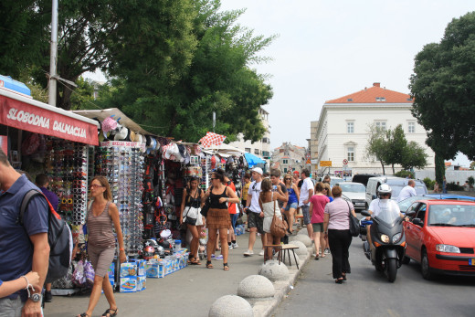 open market in Split, Croatia