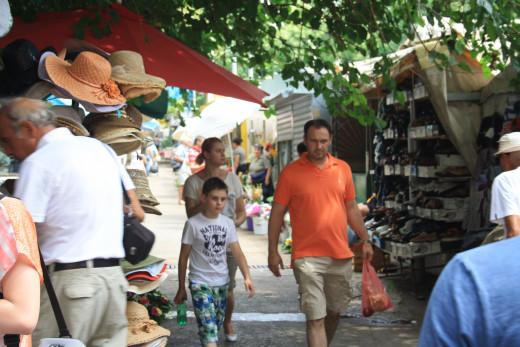 open market in Split, Croatia