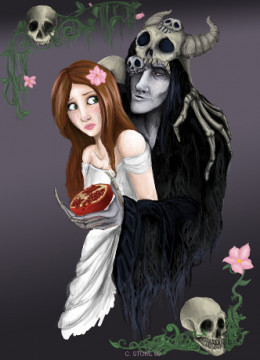 Hades kidnapped and raped Persephone, and she had to spend one third of the year with him in the Underworld