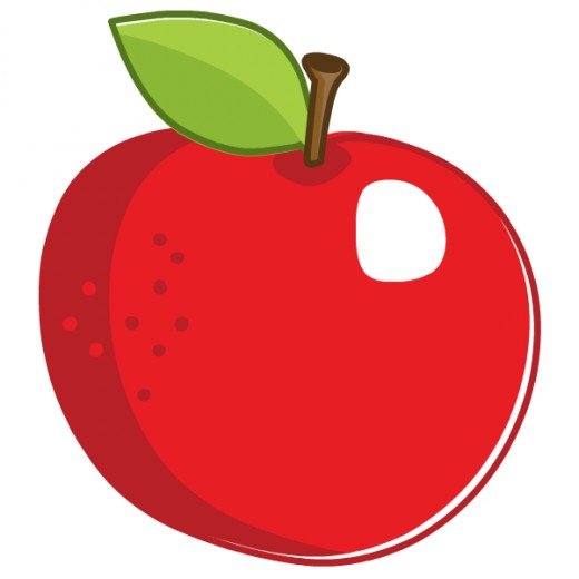 Free food clip art: Big red apple