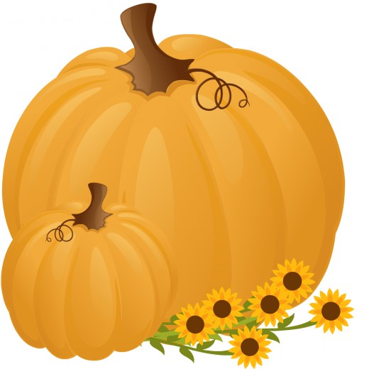 Food clipart: Two pumpkins