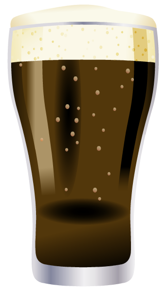 Glass of root beer or cola clip art