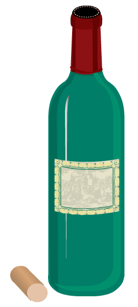 Food clip art: wine bottle