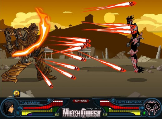 """MechaQuest"" battle screen"