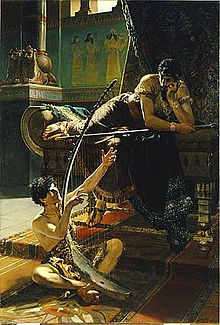 David and Saul (1885) by Julius Kronberg.