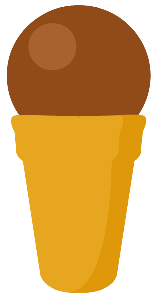 Free chocolate ice cream cone clip art