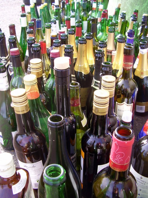 How many bottles of wine did you drink last week?