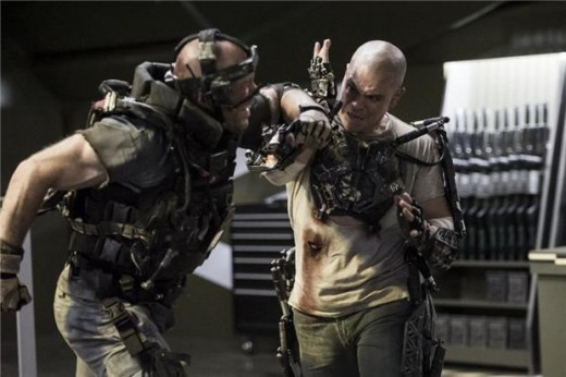 The action of Elysium was brutal and awesome.
