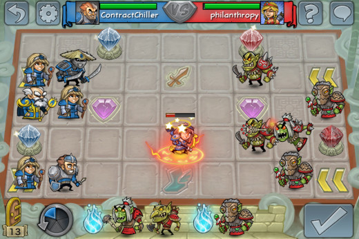 Shaman strikes three times to KO the Archer.