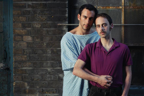 Starring Tom Colley (Rich) and David Poynor (Saul) in 'As Is' at the Finborough Theatre