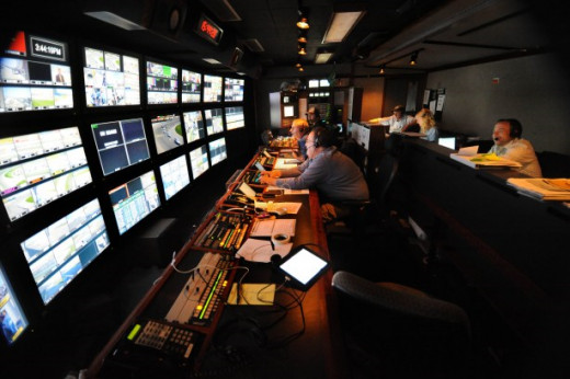 Covering NASCAR is a complex business that requires high technology and high expenses