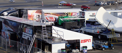For a network leaving the sport, these trucks represent an investment in someone else's future