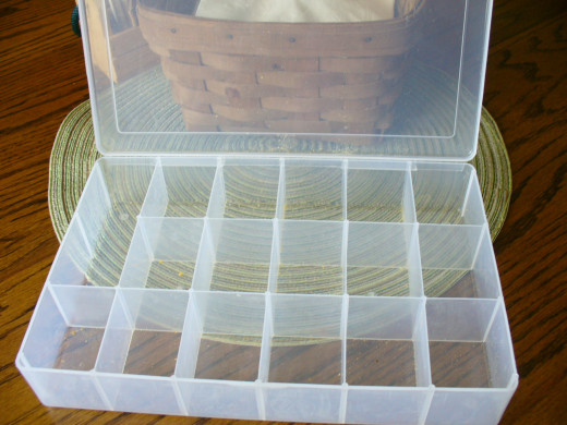 Plastic Divided Storage Boxes Listitdallas