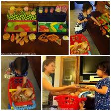 Kids playing grocery store.