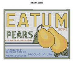 Eatum pears free cross stitch patterns