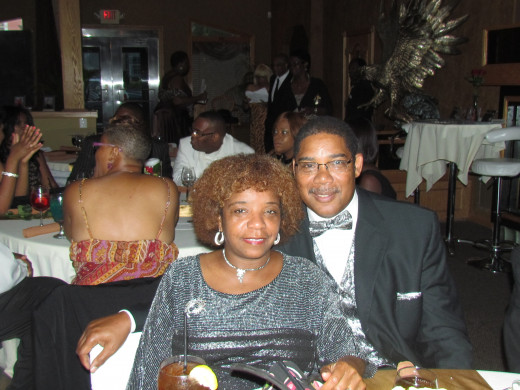 My husband Walker and I, enjoyed this special event. Walker is the son of this special anniversary couple.