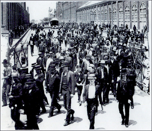 workers walk out