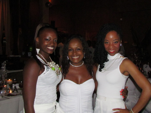 "Another romantic and fun event produced by Rick Coley of Now That's Entertainment was ""The White Diamond Event."" Jaleesa is pictured here with Sheila Coley and her daughter Shalita."