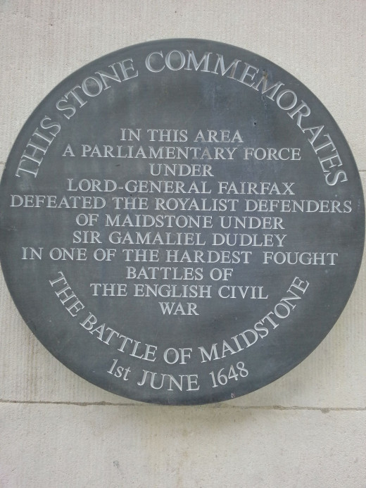The Battle of Maidstone...plaque on the town hall
