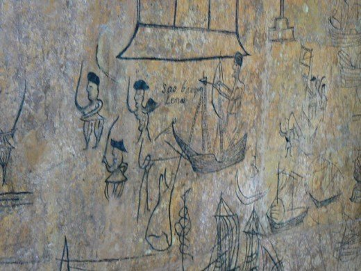 Wall Painting in Fort Jesus