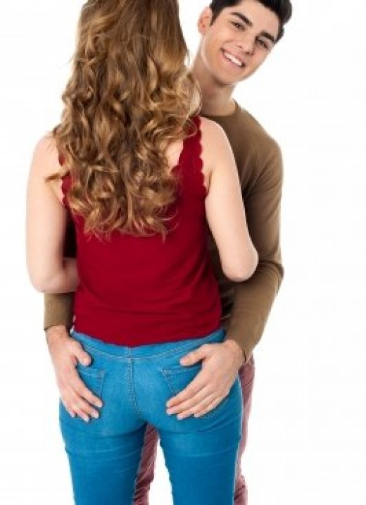Never make the mistake of placing your hands on her bum if you are giving a friendly hug.