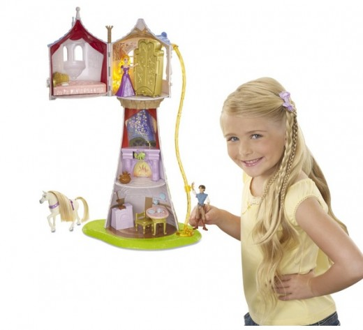 girls love the Rapunzel Magical Tower Playset