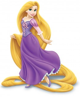 Rapunzel not your typical Disney Princess as she carries her signature blonde hair, which is 70 feet long,