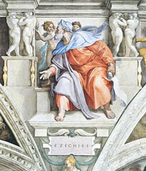 230px-Ezekiel_by_Michelangelo,_restor...