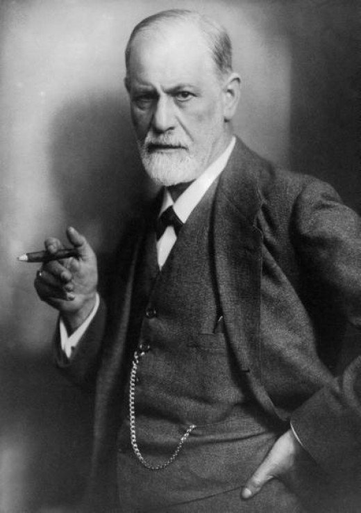 Even while posing for a major publication such as Time, Sigmund Freud could not withhold his obsession with phallic symbols.