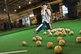 Indoor baseball.