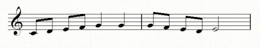 A simple scale-like melody fragment