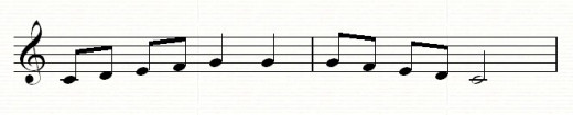 Extending the melody using repetition, and ending on the tonic or C