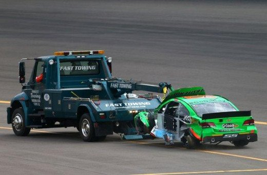 Patrick has ended multiple races on the wrecker since her Sprint Cup debut