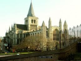 King William's half-brother Bishop Odo's Rochester cathedral - his castle overlooks it from across the way