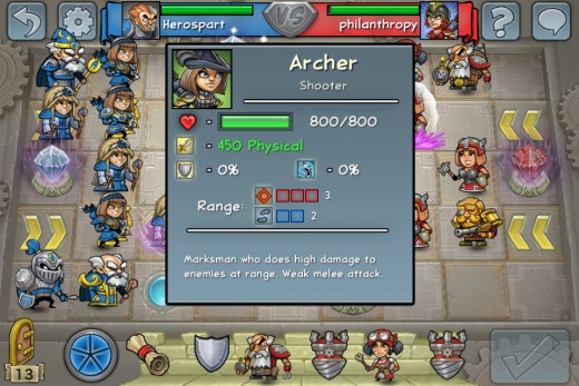 The Archer with it's impressive 450 damage and 3 range is capable of handling any other unit in the game with ease.