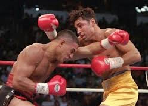 Oscar De La Hoya beat Hector Camacho in defense of his Welterweight Championship.